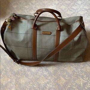 Ralph Lauren Polo Glen Plaid Duffel Bag